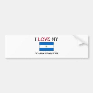 I Love My Nicaraguan Grandma Car Bumper Sticker