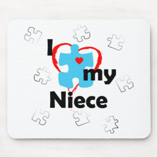 I Love My Niece - Autism Mouse Pad