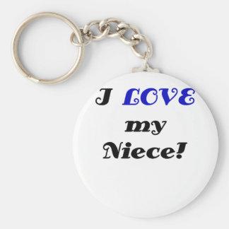 I Love my Niece Key Chains