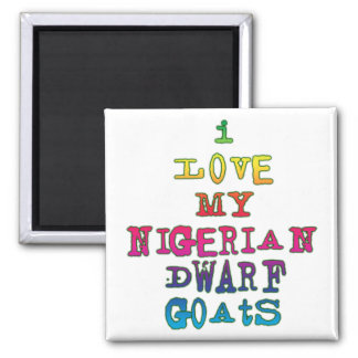 I Love My Nigerian Dwarf Goats 2 Inch Square Magnet