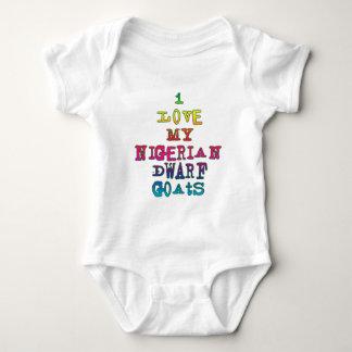 I Love My Nigerian Dwarf Goats Baby Bodysuit