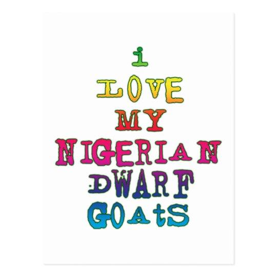 I Love My Nigerian Dwarf Goats Postcard