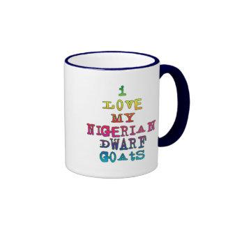 I Love My Nigerian Dwarf Goats Ringer Coffee Mug