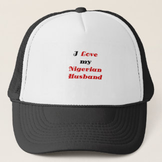I Love my Nigerian Husband Trucker Hat