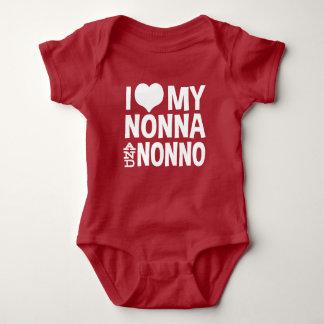 I Love My Nonna and Nonno Baby Bodysuit