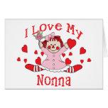 I love My Nonna Rag Doll & Hearts Card