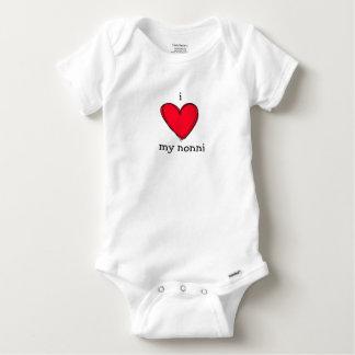 i love my nonni, italian grandma or grandpa baby baby onesie