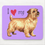 I Love my Norfolk Terrier Mouse Pad