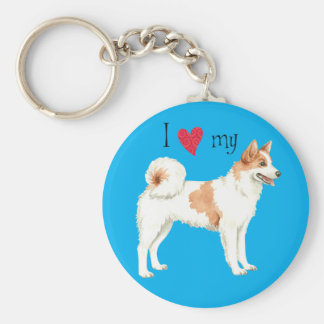 I Love my Norrbottenspets Keychain