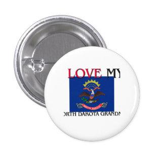 I Love My North Dakota Grandma Button