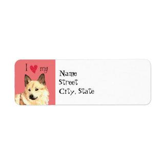 I Love my Norwegian Buhund Label