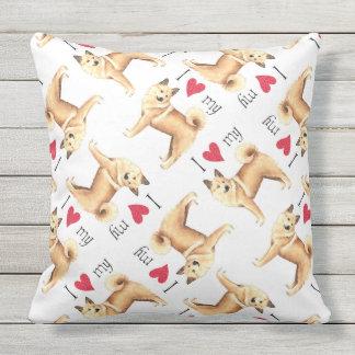 I Love my Norwegian Buhund Outdoor Pillow