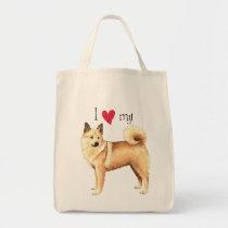 I Love my Norwegian Buhund Tote Bag