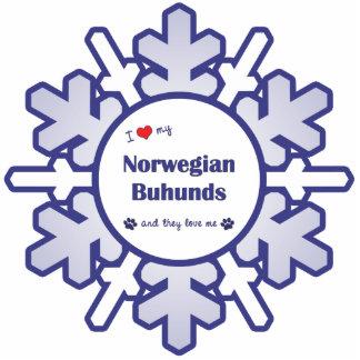 I Love My Norwegian Buhunds (Multiple Dogs) Statuette