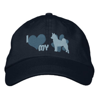 I Love my Norwegian Elkhound Embroidered Hat