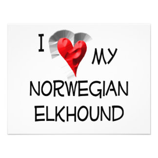 I Love My Norwegian Elkhound Invitations
