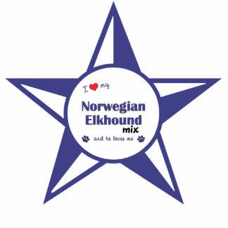 I Love My Norwegian Elkhound Mix (Male Dog) Photo Sculptures