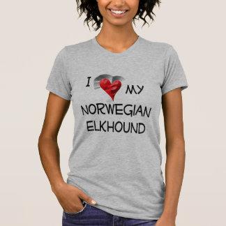 I Love My Norwegian Elkhound Tee Shirt