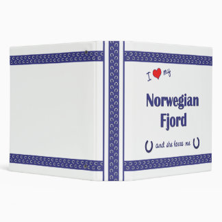I Love My Norwegian Fjord (Female Horse) Binder