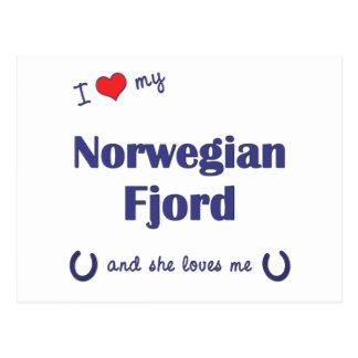 I Love My Norwegian Fjord (Female Horse) Postcard