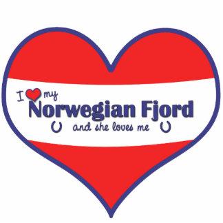 I Love My Norwegian Fjord (Female Horse) Statuette