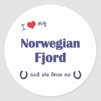I Love My Norwegian Fjord (Female Horse) Stickers
