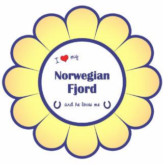 I Love My Norwegian Fjord (Male Horse) Cutout