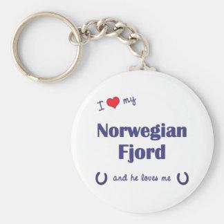 I Love My Norwegian Fjord (Male Horse) Keychain