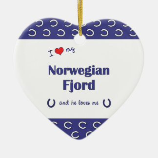 I Love My Norwegian Fjord (Male Horse) Christmas Ornaments