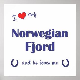 I Love My Norwegian Fjord (Male Horse) Poster