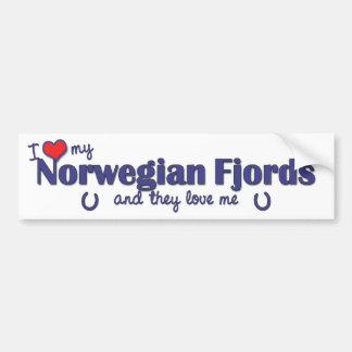 I Love My Norwegian Fjords (Multiple Horses) Bumper Sticker