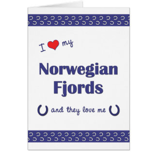 I Love My Norwegian Fjords (Multiple Horses) Card