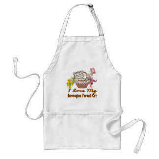 I Love My Norwegian Forest Cat Adult Apron