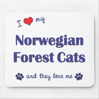 I Love My Norwegian Forest Cats (Multiple Cats) Mouse Pad