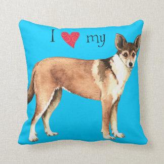 I Love my Norwegian Lundehund Throw Pillow