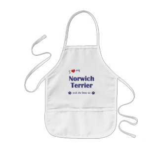 I Love My Norwich Terrier (Female Dog) Aprons