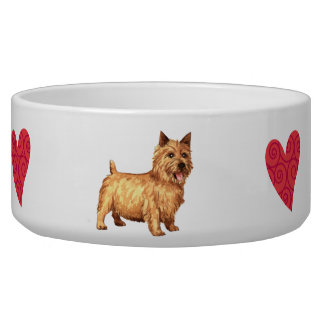 I Love my Norwich Terrier Dog Water Bowls