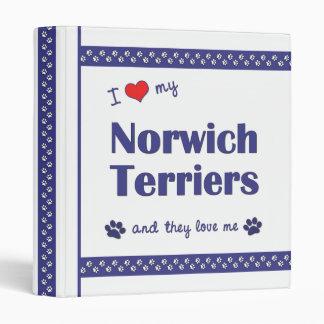 I Love My Norwich Terriers (Multiple Dogs) Binder