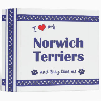 I Love My Norwich Terriers (Multiple Dogs) Binder