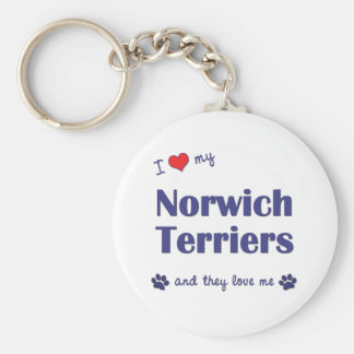I Love My Norwich Terriers (Multiple Dogs) Key Chains