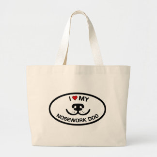 I Love my Nosework Dog Jumbo Tote Bag