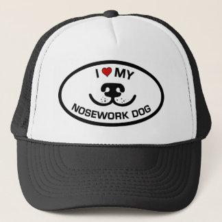 I Love my Nosework Dog Trucker Hat