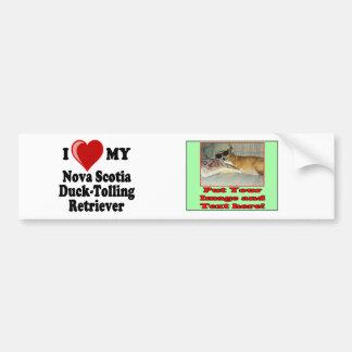I Love My Nova Scotia Duck-Tolling Retriever Bumper Sticker