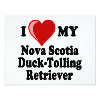 I Love My Nova Scotia Duck-Tolling Retriever Card
