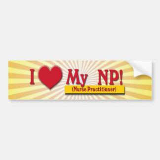 I LOVE MY NP VALENTINE - Nurse Practitioner Bumper Sticker