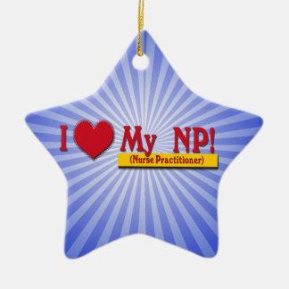 I LOVE MY NP VALENTINE - Nurse Practitioner Ceramic Ornament