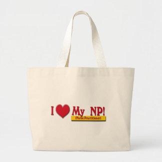 I LOVE MY NP VALENTINE - Nurse Practitioner Large Tote Bag