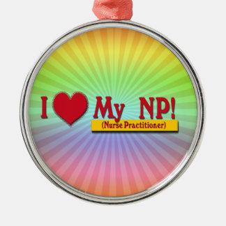 I LOVE MY NP VALENTINE - Nurse Practitioner Metal Ornament
