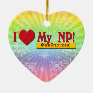 I LOVE MY NP VALENTINE - Nurse Practitioner Ornament
