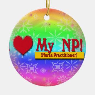 I LOVE MY NP VALENTINE - Nurse Practitioner Christmas Tree Ornament